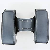 Мотосумка (2 кофра) H01-2 (PVC, р-р 49x31x15см, черный), фото 3