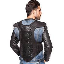 Жилет защитный для мотоциклиста FOX MS-5525 (PU, PL, пластик, р-р M-XL, черный), фото 2