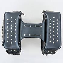 Мотосумка (2 кофра) H21 (PVC, р-р 48x30x16см, черный), фото 2