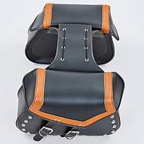 Мотосумка (2 кофра) H17 (PVC, р-р 49x31x15см, черный-оранжевый), фото 3