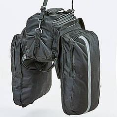 Мотосумка на бак и багажник Alpinestars MS-0308 2в1 (PL, р-р 30х16х15см, черный-серый)