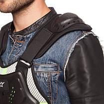 Жилет защитный для мотоциклиста Alpinestars MS-5542 (PU, PL, пластик, р-р M-XL, черный), фото 3