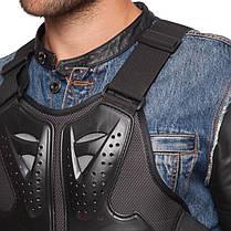 Жилет защитный для мотоциклиста MS-5479 (PU, PL, пластик, р-р регулируемый, черный), фото 3