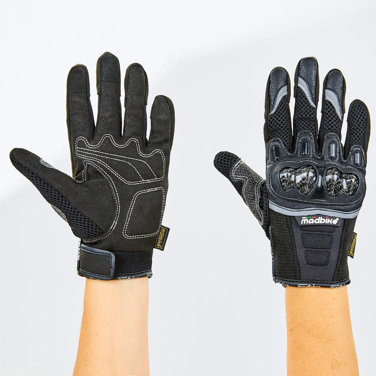 Мотоперчатки MADBIKE MAD-03 размер M-2XL черный