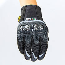 Мотоперчатки MADBIKE MAD-03 размер M-2XL черный, фото 3