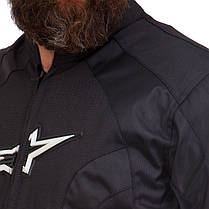 Мотокуртка текстильная с защитой Alpinestars MS-1213 (PL, PVC, L-2XL-46-52, черный), фото 2