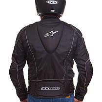 Мотокуртка текстильная с защитой Alpinestars A08 (PL, PVC, L-2XL, черный), фото 3