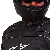 Мотокуртка текстильная с защитой Alpinestars A08 (PL, PVC, L-2XL, черный), фото 2