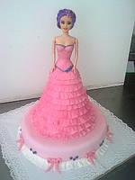 """Дитячій торт """"Барби"""" (barbi)"""