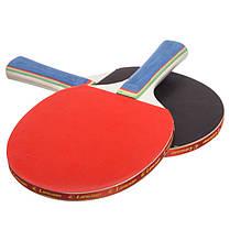 Набор для координации и тренировки по настольному теннису 150-40 (2ракетки, 2шарика, 1подставка, 2струны, фото 2