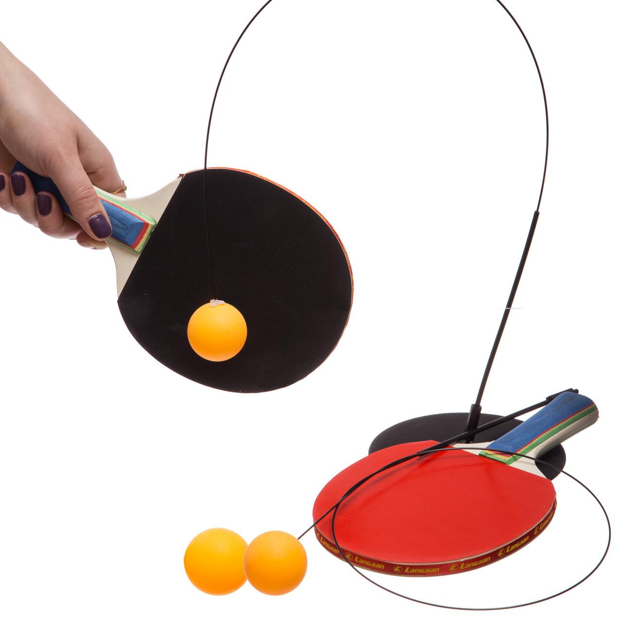 Набор для координации и тренировки по настольному теннису XCT-611 (2ракетки, 3шарика, 1струна)