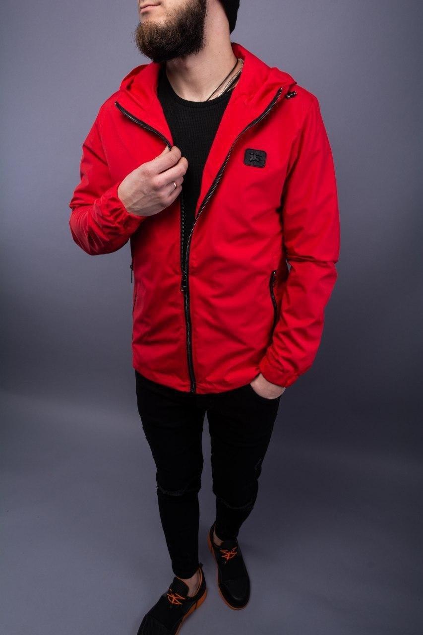 😜 Куртка - Мужская куртка с капюшоном красного цвета