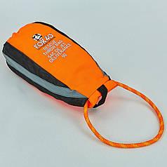 Спасательный нетонущей канат l-27м в водонепроницаемом мешке FOX40 7909-0302 RESCUE THROW BAG (полипропилен, оранжевый)