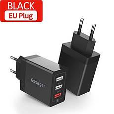Універсальний зарядний пристрій Essager SCD-30 White 30 вт на 3 USB порту Quick Charge 3.0 Швидка зарядка 3, фото 3