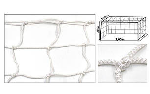 Сетка на ворота футзальные, гандбольные профессиональная (2шт) Элит1.1 UR SO-5289 (PP4,5мм, яч.12см), фото 2