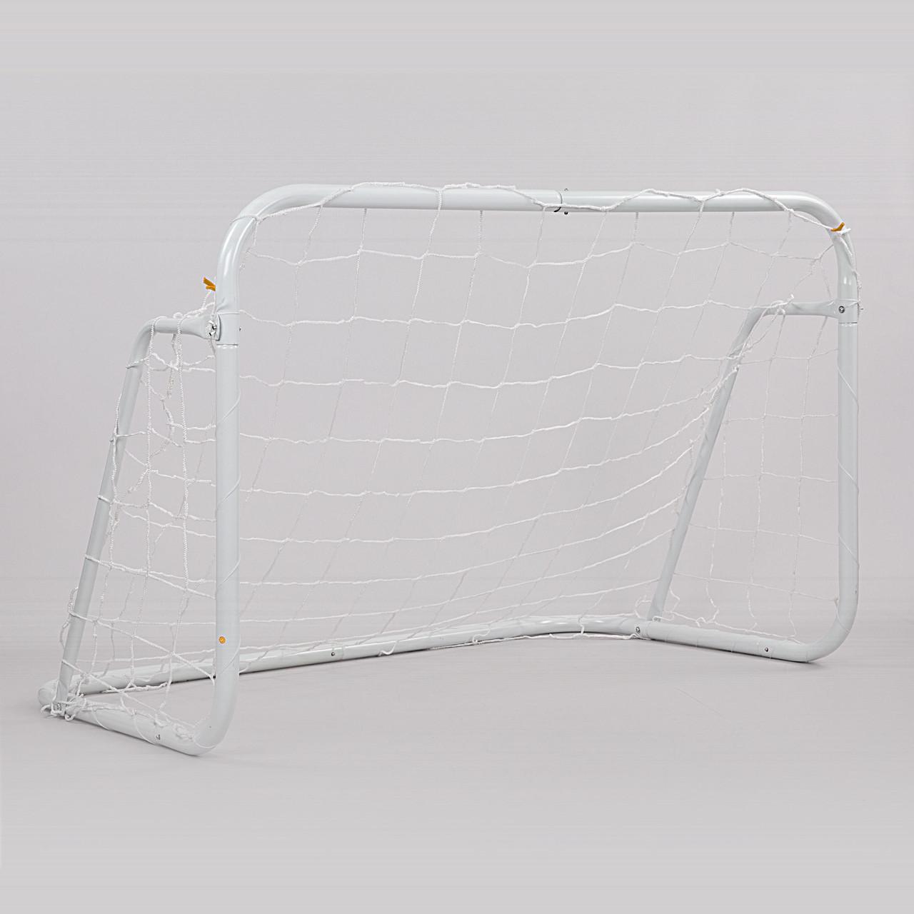 Ворота футбольные с сеткой (2шт) FB-0482 (металл, полиэстер, р-р 120х80х80см, белый)