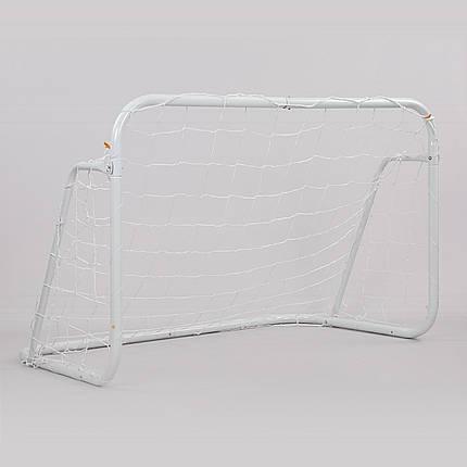 Ворота футбольные с сеткой (2шт) FB-0482 (металл, полиэстер, р-р 120х80х80см, белый), фото 2