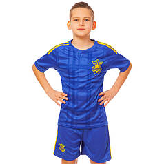 Комплект футбольной формы (футболка, шорты и гетры) Zelart УКРАИНА CO-3900-UKR-16B-ETM1721 (форма р-р XS-M,