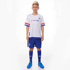 Комплект футбольной формы (футболка, шорты и гетры) Zelart CHELSEA CO-3900-CH-3-ETM1818-BL (форма р-р S, M