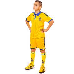 Комплект футбольной формы (футболка, шорты и гетры) Zelart УКРАИНА CO-3900-UKR-14Y-ETM1720 (форма р-р XS-M,