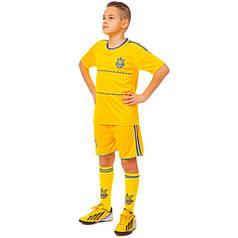Комплект футбольной формы (футболка, шорты и гетры) Zelart УКРАИНА CO-1006-UKR-13B-ETM1721 (форма р-р XS-M,