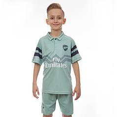 Комплект футбольной формы (футболка, шорты и гетры) Zelart ARSENAL CO-7291-ETM1808-BL (форма р-р 22-24 8-10