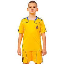Комплект футбольной формы (футболка, шорты и гетры) Zelart УКРАИНА CO-1006-UKR-12Y-ETM1720 (форма р-р S,M рост, фото 2