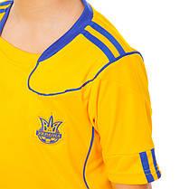 Комплект футбольной формы (футболка, шорты и гетры) Zelart УКРАИНА CO-1006-UKR-12Y-ETM1720 (форма р-р S,M рост, фото 3