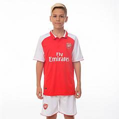 Комплект футбольной формы (футболка, шорты и гетры) Zelart ARSENAL CO-7127-ETM1808-R (форма р-р 20-24 6-10