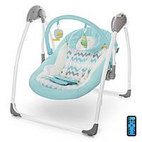 Колыбель-качель, Кресло-качалка для ребёнка , Электрокачель с пультом ME 1047 AIRY Mint, голубой 11/60.3