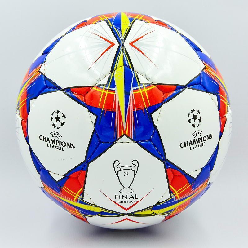 Мяч футбольный №4 PU ламин. CHAMPIONS LEAGUE FINAL MADRID 2019 FB-0099 (№4, 5 сл., сшит вручную)