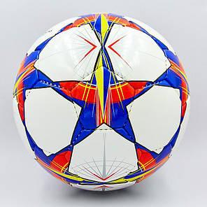 Мяч футбольный №4 PU ламин. CHAMPIONS LEAGUE FINAL MADRID 2019 FB-0099 (№4, 5 сл., сшит вручную), фото 2
