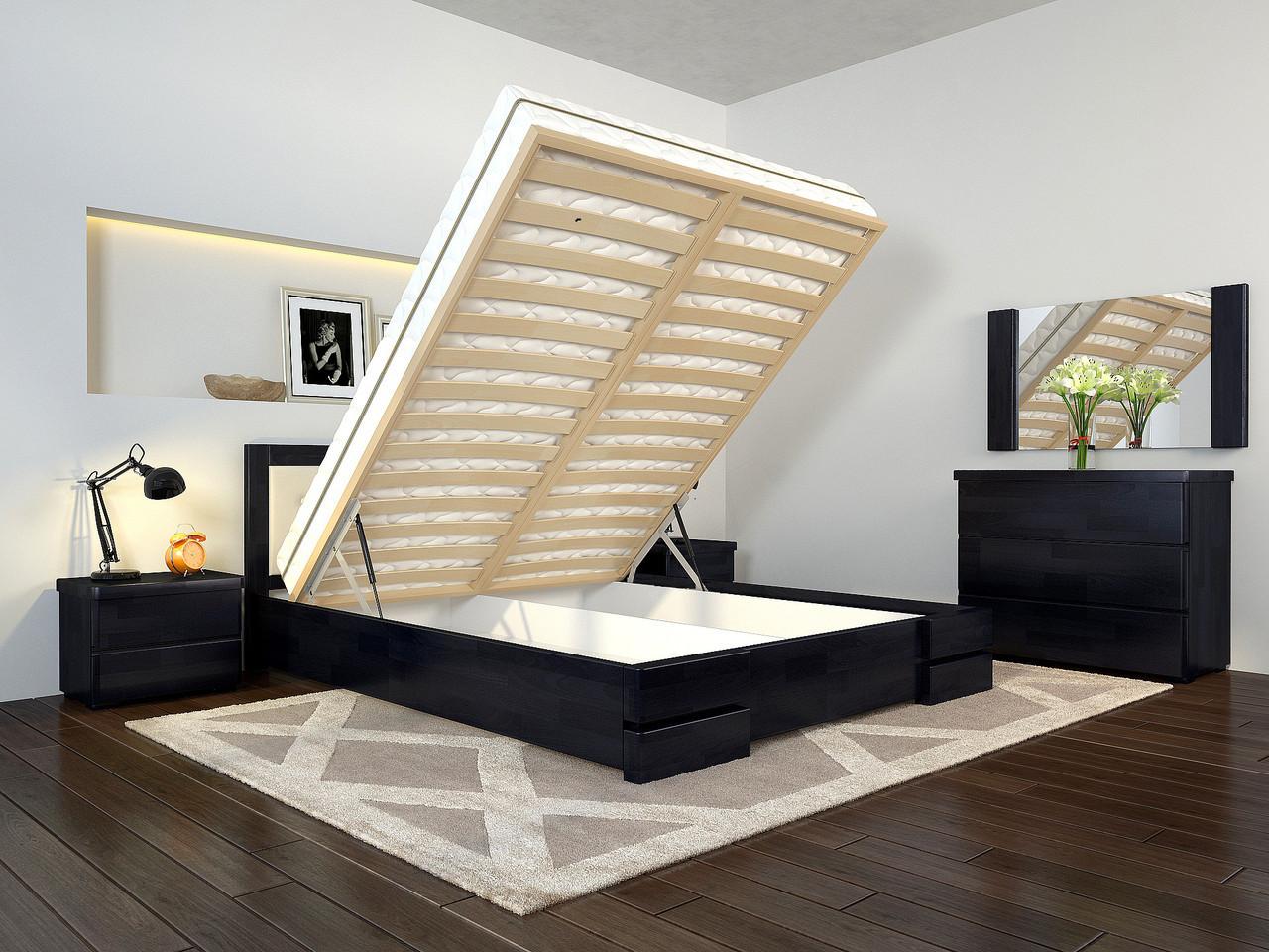 Кровать Arbordrev Регина Люкс квадраты с подъемным механизмом сосна