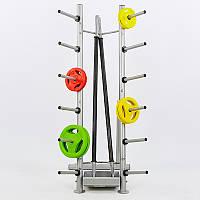 Подставка (стойка) для штанг фитнес памп Zelart TA-8212 (металл, р-р68x78x145 cм)LRK-502