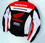 Мотокуртка текстильна Honda Racing Team з захистом, фото 5