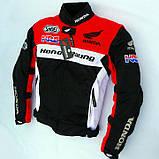 Мотокуртка текстильна Honda Racing Team з захистом, фото 4
