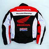 Мотокуртка текстильна Honda Racing Team з захистом, фото 7