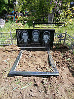 Памятник гранитный тройной 2-22
