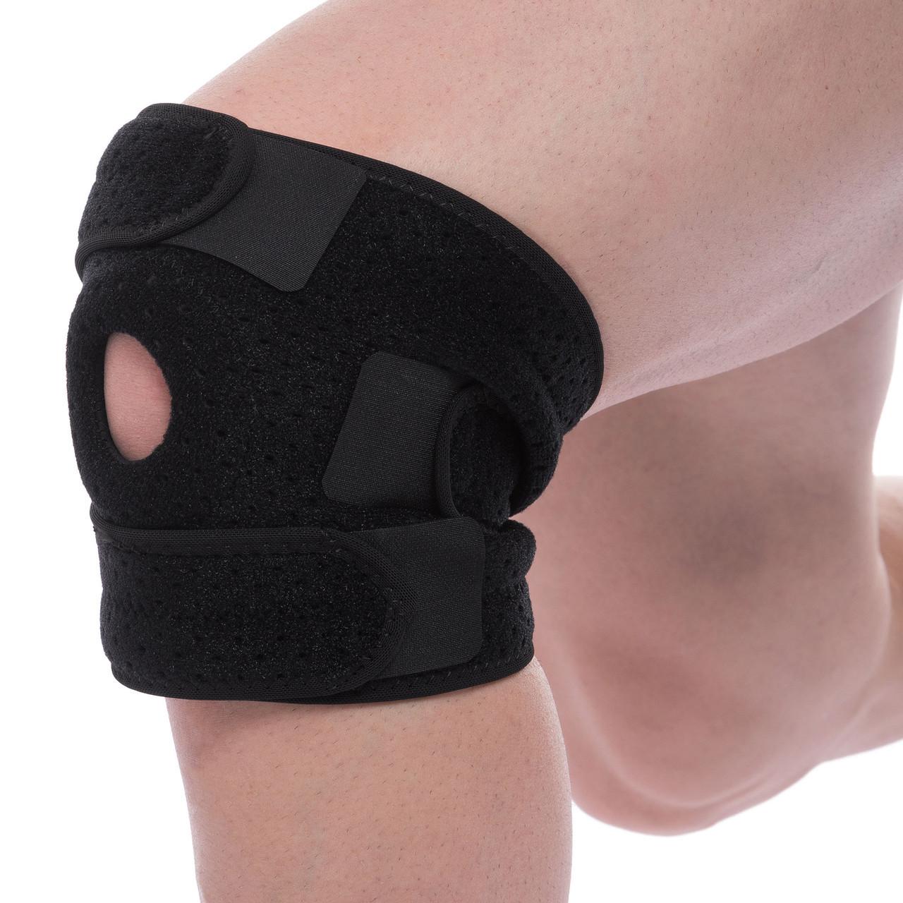 Наколенник (фиксатор коленного сустава) с открытой колен.чашечкой (1шт) MUTE 9050 (неопрен, р-р регулируемый,