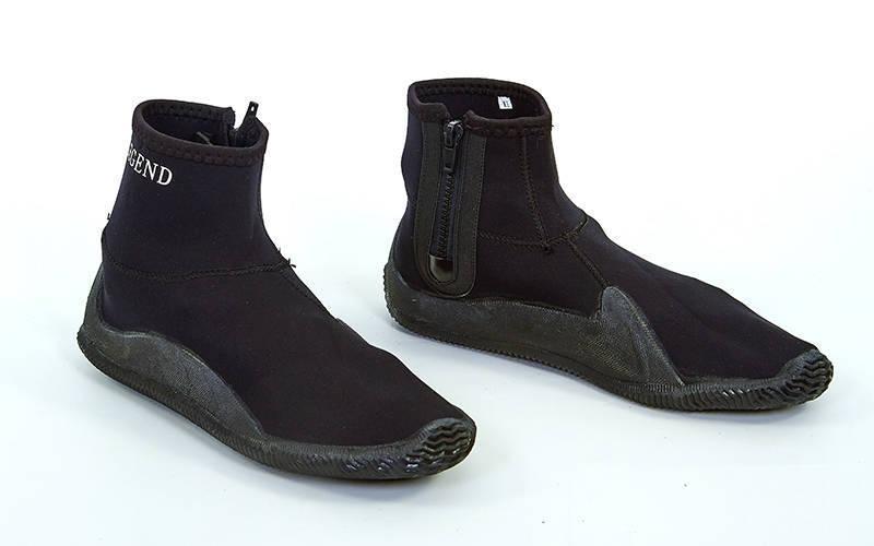 Ботинки для дайвинга LEGEND PL-DNS10 (5мм неопрен, резина, размер L-XXL EU-40-46, RUS-40-45, черный)