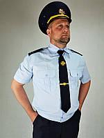 Рубашка шведка форменная НГУ цвет меланж короткий рукав