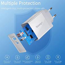 Універсальний зарядний пристрій Essager PD-01 White 36 вт USB + PD QC3.0 Quick Charge 3.0 Швидка зарядка 3А, фото 3