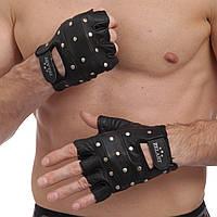 Перчатки для кроссфита и воркаута кожаные Zelart WorkOut ZB-01049 размер L-XXL черный