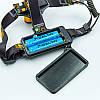 Фонарик налобный K28-T6 (пластик, 2 светодиода, линза, на аккумуляторе, черный), фото 5