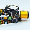Фонарик налобный K28-T6 (пластик, 2 светодиода, линза, на аккумуляторе, черный), фото 6