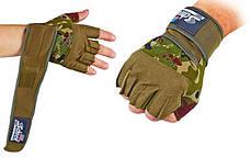 Перчатки для тяжелой атлетики SCHIEK BC-4928 размер M-XL цвета в ассортименте, фото 3