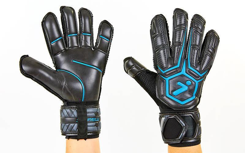 Перчатки вратарские с защитными вставками на пальцы STORELLI FB-905 (PVC, р-р 8-10, цвета в ассортименте)