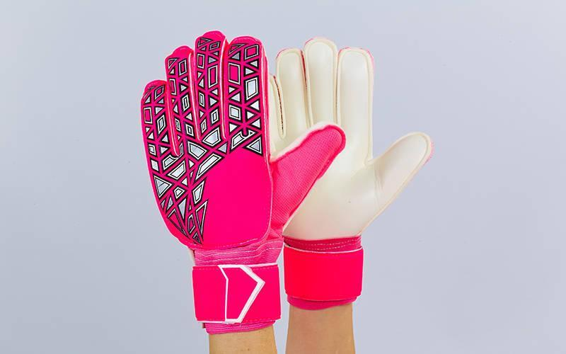 Перчатки вратарские с защитными вставками на пальцы FB-888 (PVC,р-р 8-10, цвета в ассортименте)