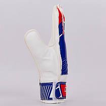 Перчатки вратарские FB-0187-2 PARIS SAINT-GERMAIN (PVC, р-р 8-10, синий-красный), фото 2