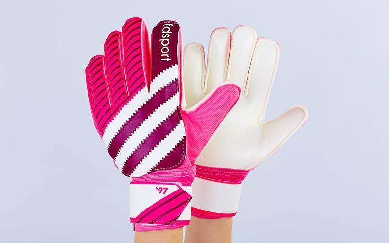 Перчатки вратарские с защитными вставками на пальцы FB-893 (PVC,р-р 8-10, цвета в ассортименте)